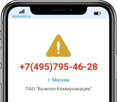 Кто звонил с номера +7(495)795-46-28, чей номер +74957954628