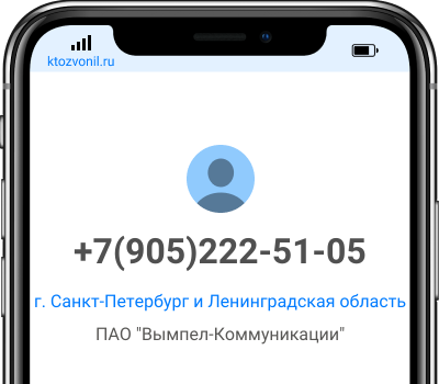 Кто звонил с номера +7(905)222-51-05, чей номер +79052225105