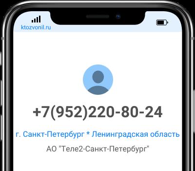 Кто звонил с номера +7(952)220-80-24, чей номер +79522208024