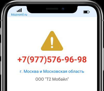 Кто звонил с номера +7(977)576-96-98, чей номер +79775769698