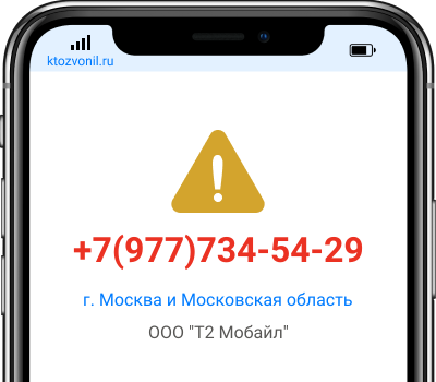 Кто звонил с номера +7(977)734-54-29, чей номер +79777345429