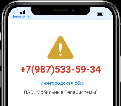 Кто звонил с номера +7(987)533-59-34, чей номер +79875335934